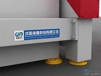 水箱与Y轴框架具有地脚,方便安装时水平的调节,避免了水箱与地面长时间接触造成水气对水箱底面的腐蚀
